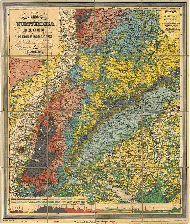 653px-Geognostische_Karte_Württemberg_Baden_(1860)