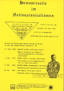 Schwules ;useum*, Sammlung deutsche Städte/Tübingen