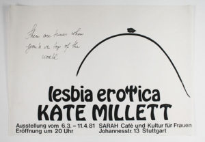 Sarah Café 1981: Ausstellung lesbia erotica
