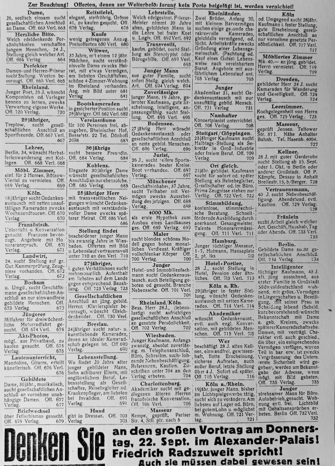 Die Freundin, 3. Jg., Nr. 18 (19.9.1927), S. 8
